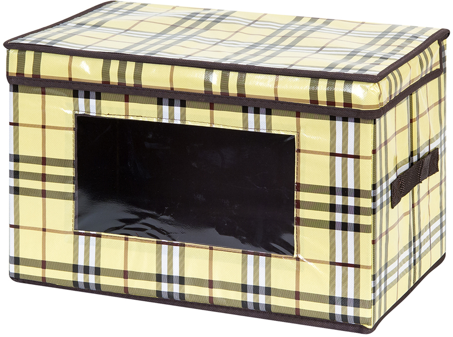 Кофр для хранения вещей El Casa Шотландка, складной, 38 х 25 х 25 см370375Вместительный кофр для хранения одежды и домашнего текстиля. Прозрачная вставка позволяет видеть содержимое кофра. Для удобства в обращении по бокам имеются ручки. Благодаря эстетичному дизайну кофр гармонично смотрится в любом интерьере. Размер 38х25х25 см.