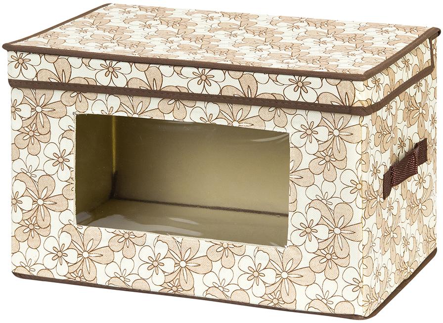 Кофр для хранения вещей El Casa Цветочное изобилие, складной, 38 х 25 х 25 см370378Вместительный кофр для хранения одежды и домашнего текстиля. Прозрачная вставка позволяет видеть содержимое кофра. Для удобства в обращении по бокам имеются ручки. Благодаря эстетичному дизайну кофр гармонично смотрится в любом интерьере. Размер 38х25х25 см.