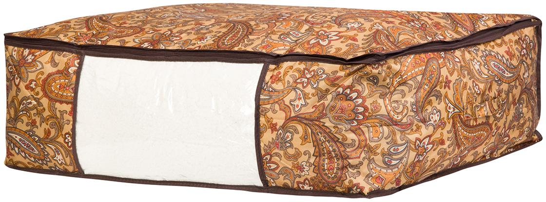 Кофр для хранения одеял и пледов El Casa Перо павлина, цвет: коричневый, 80 х 60 х 25 см370469Вместительный мягкий кофр-чехол для хранения одеял, пледов и домашнего текстиля. Прозрачная вставка позволяет видеть содержимое кофра. Застегивается на молнию. Оригинальный дизайн отлично впишется в любой интерьер.