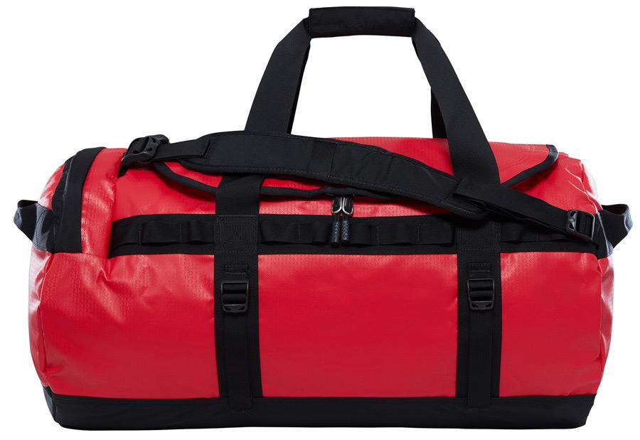 Сумка дорожная The North Face Base Camp Duffel, цвет: красный, 95 л. T93ETQKZ3T93ETQKZ3Дорожная сумка The North Face Base Camp Duffel- универсальная модель, которая может быть как экспедиционным баулом, так и вашейлюбимой спортивной сумкой. Сделана из ткани с непромокаемой пропиткой, не боится воды и грязи. Поэтому даже если вы уронили баул в воду,вещи останутся сухими и чистыми. Удобные ручки и плечевые ремни для переноски, компрессионные стропы по бокам- все это для простоты иудобного использования.Имеется дополнительный отсек для хранения ботинок.
