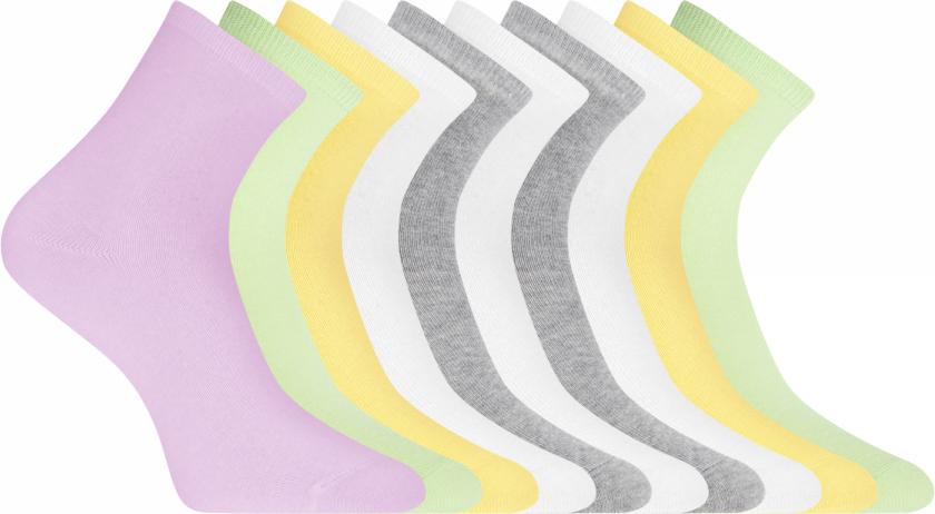 Носки женские oodji Ultra, цвет: разноцветный, 10 пар. 57102466T10/47469/19UGN. Размер 35/3757102466T10/47469/19UGNКомплект из 10 пар носков с высокой резинкой. Верх оформлен плотной резинкой, которая отлично фиксирует носки, не давая им сползать в самый неподходящий момент, и одновременно с этим не сдавливает ногу. Такие носки практически не ощущаются во время ношения. Трикотаж из смеси хлопка и эластана гладкий, хорошо тянется, практичен. В этих носках комфортно весь день. Базовый комплект из 10 пар одинаковых носков – удачное решение для любого гардероба. С таким набором вам совершенно не обязательно часто стирать: у вас под рукой всегда будет свежая пара чистых носков. Кроме того, чтобы после стирки рассортировать носки по парам, потребуется всего несколько секунд. Базовые высокие носки хорошо подходят для повседневных и спортивных луков. Они незаменимы, если вы надели брюки или джинсы и подобрали к комплекту закрытую обувь. В этих носках вашим ногам будет комфортно и тепло. Незаметный, но такой необходимый предмет гардероба!