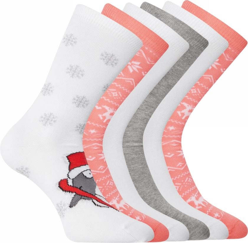 Носки женские oodji Ultra, цвет: белый, коралловый, 6 пар. 57102902-4T6/10231/11. Размер 35/3757102902-4T6/10231/11Набор от oodji состоит из шести пар хлопковых носков. Приятный на ощупь тонкий хлопковый трикотаж немного тянется и хорошо сидит благодаря добавлению эластана. Хлопковые носки пропускают воздух, хорошо впитывают влагу и прекрасно подходят для разных погодных условий. Они изящно подчеркивают лодыжки, не сползают и не ощущаются во время носки. В этих носках вам будет комфортно и тепло.