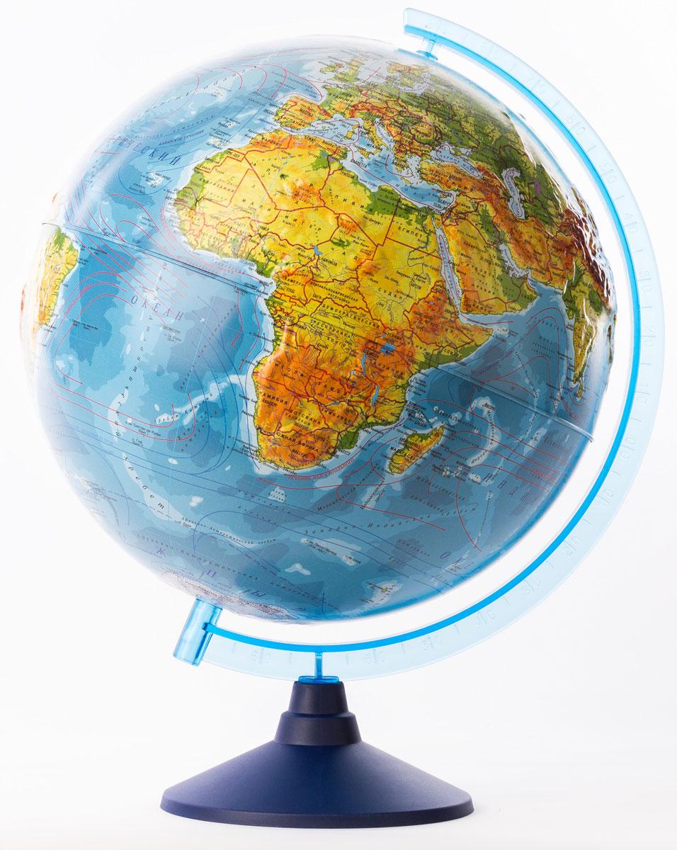 Globen Глобус Земли физический рельефный диаметр 32 смКе013200229Глобус - уменьшенная и понятная, даже детям, модель земного шара, помогает в развитиипространственного воображения и формирования правильного мировосприятия подрастающегопоколения. Глобусы Globen изготавливаются из высококачественных материалов и являются отличнымнаглядным пособием для школьников и студентов.