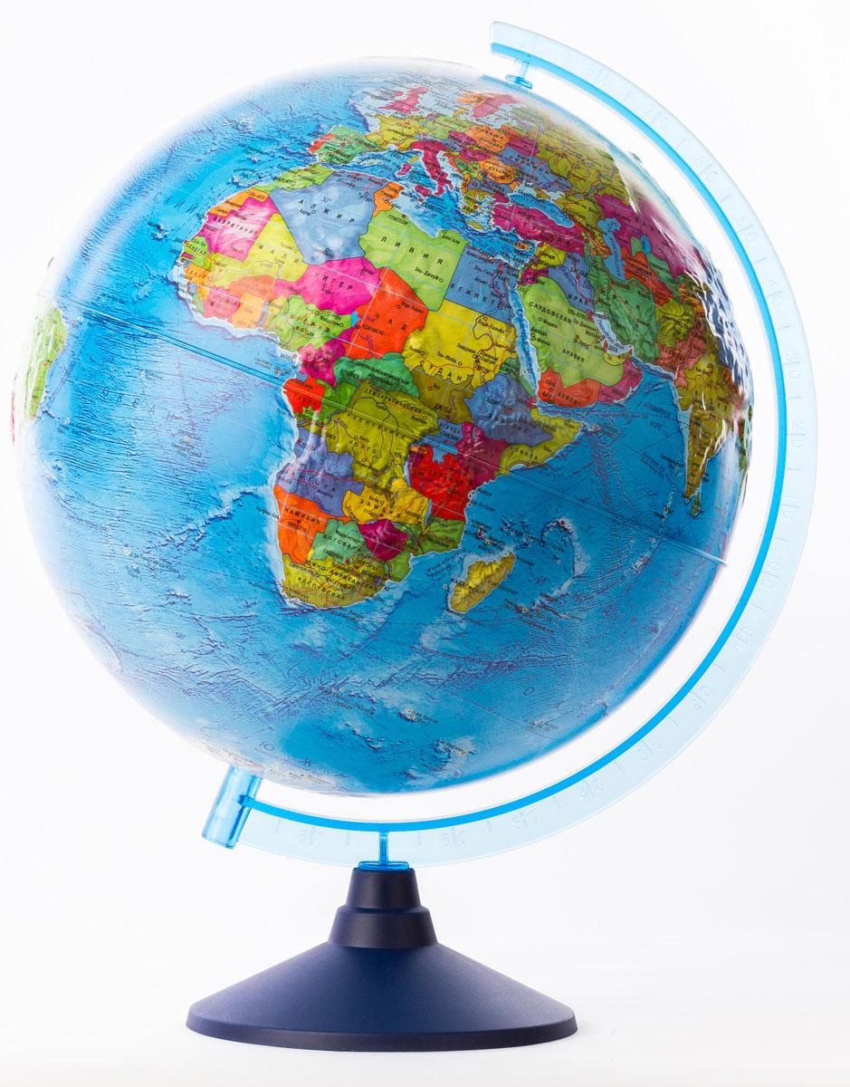 Globen Глобус Земли политический рельефный диаметр 32 см