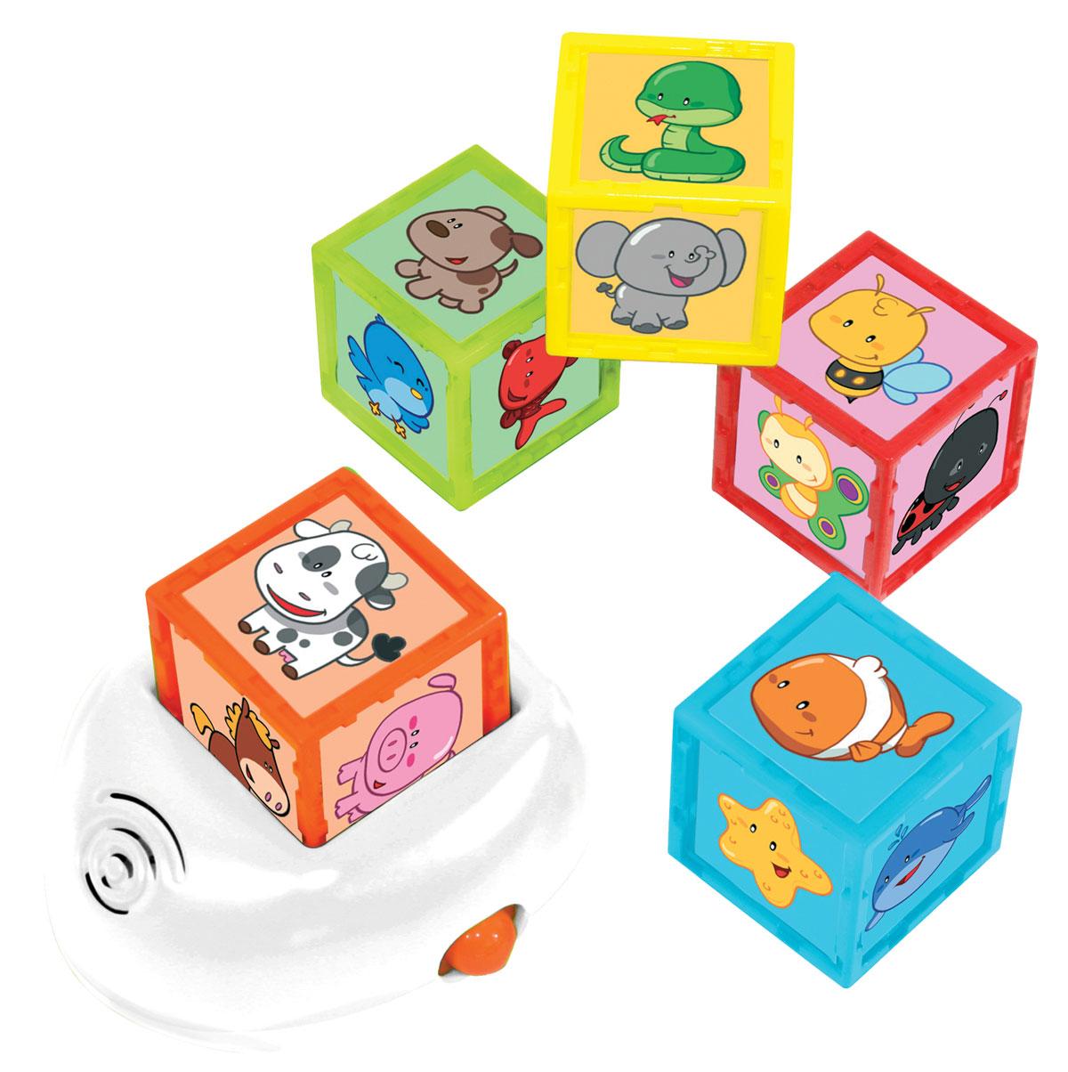 Развивающая музыкальная игрушка Kidz Delight Кубики с животными 1toy 1toy обучающие кубики кубики с животными