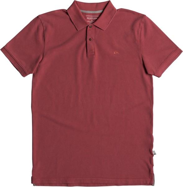 Поло мужское Quiksilver, цвет: бордовый. EQYKT03715-MMZ0. Размер S (46)EQYKT03715-MMZ0