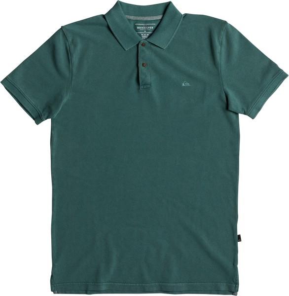 Поло мужское Quiksilver, цвет: зеленый. EQYKT03715-GQN0. Размер S (46) поло quiksilver newmizkimitt mineral red