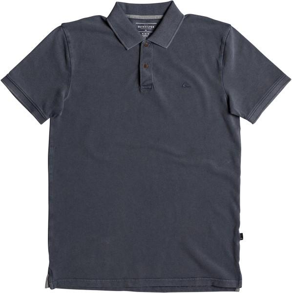 Поло мужское Quiksilver, цвет: синий. EQYKT03715-BYL0. Размер M (48)EQYKT03715-BYL0Мужская футболка-поло Quiksilver поможет создать отличный современный образ. Модель изготовлена из натурального хлопка, очень мягкая и приятная на ощупь, не сковывает движения и позволяет коже дышать. Футболка-поло с отложным воротником и короткими рукавами застегивается сверху на две пуговицы. По бокам предусмотрены небольшие разрезы. Изделие украшено вышивкой. Такая модель отлично подойдет для повседневной носки и подарит вам комфорт в течение всего дня.