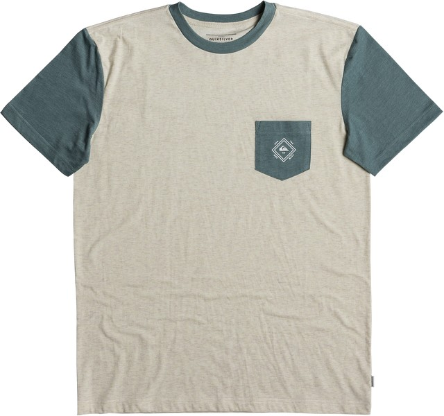 Футболка мужская Quiksilver, цвет: белый. EQYKT03733-WDW0. Размер S (46)EQYKT03733-WDW0