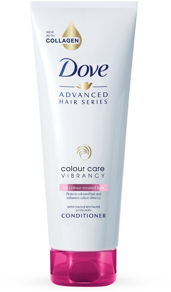 Dove Advanced Hair Series Кондиционер для волос Роскошное сияние, 250 мл67409334Dove представляет особенный уход даже для самых требовательных волос. Коллекция Dove Advanced Hair Series Роскошное сияние создана специально для питания и защиты цвета окрашенных волос. Регулярное мытье, укладки, воздействие УФ-лучей негативно влияют на окрашенные волосы: они теряют цвет, тускнеют и становятся безжизненными. Кондиционер Dove Advanced Hair Series Роскошное сияние с технологией восстановления яркости цвета и Коллагеном глубоко питает и защищает волосы.