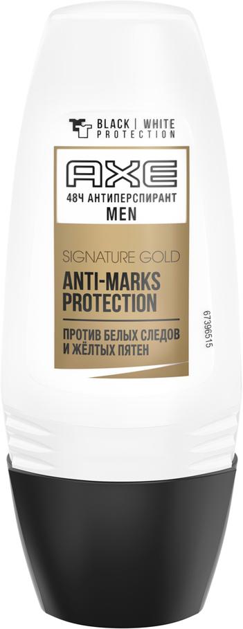 Axe Signature Gold Антиперспирант шариковый Защита от пятен, 50 мл67396563AXE против белых следов и желтых пятен. Защищает твой стиль. Безупречно.