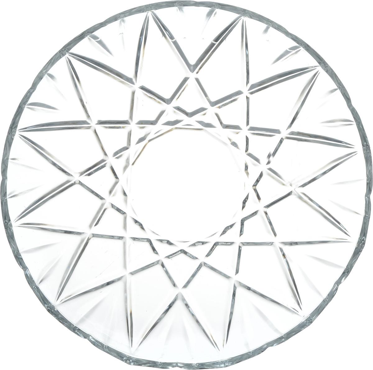 Блюдо Isfahan Orkideh, диаметр 31,5 см546Блюдо Isfahan Orkideh, выполненное из высококачественного стекла, оригинальноукрасит праздничный стол и поможет красиво расположить торт или пирог.Такое изделие изиранского боросиликатного стекла - новый тренд на рынке посуды. Оно легче хрусталя, но приэтом выглядит достаточно хрустально: те же грани, узоры, преломление света, блики,прозрачность, плавность краев и устойчивость дна.