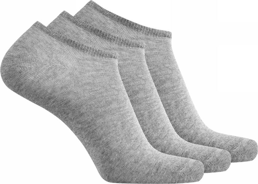 Носки мужские oodji Basic, цвет: серый меланж, 3 пары. 7B231000T3/47469/2300M. Размер 40/437B231000T3/47469/2300MКомплект от oodji состоит из трех пар низких базовых носков. Сдержанная модель без украшений. Верх оформлен тонкой трикотажной резинкой, которая прекрасно держит форму и не сдавливает ногу. Тонкий эластичный трикотаж из хлопка с эластаном в меру теплый, подходит для разной погоды и приятен для ног.Практичный набор из трех пар укороченных носков идеально подойдет для вашего спортивного и повседневного гардероба. Такие носки хорошо сочетаются с кедами и кроссовками, туфлями и ботинками. Носки остаются незаметными в любом комплекте одежды и выполняют важную функцию – отводят влагу от тела в жаркую погоду, согревают ноги, когда становится прохладно и обеспечивают комфортное ношение обуви. С таким комплектом вы легко подберете подходящие носки для завершения своего образа!
