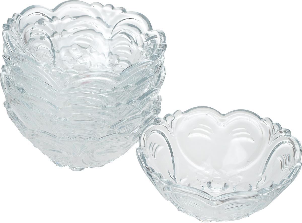 """Салатник Isfahan """"Kokab"""", изготовленный из стекла, прекрасно подойдет для подачи  различных блюд: закусок, салатов или фруктов.  Такое изделие из иранского боросиликатного  стекла - новый тренд на рынке посуды. Оно легче хрусталя, но при этом выглядит достаточно  """"хрустально"""": те же грани, узоры, преломление света, блики, прозрачность, плавность краев и  устойчивость дна.  Такой салатник украсит ваш праздничный или обеденный стол, а  оригинальный дизайн придется по вкусу и ценителям классики, и тем, кто предпочитает  утонченность и изысканность.  Набор состоит из 6 салатников."""