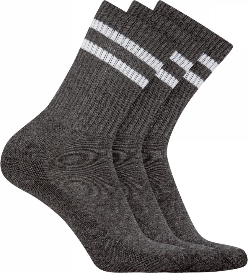 Носки мужские oodji, цвет: темно-серый, 3 пары. 7O233001T3/47469/1902S. Размер 40/43 носки мужские oodji цвет серый меланж 7b213001m 47469 2300m размер 40 43