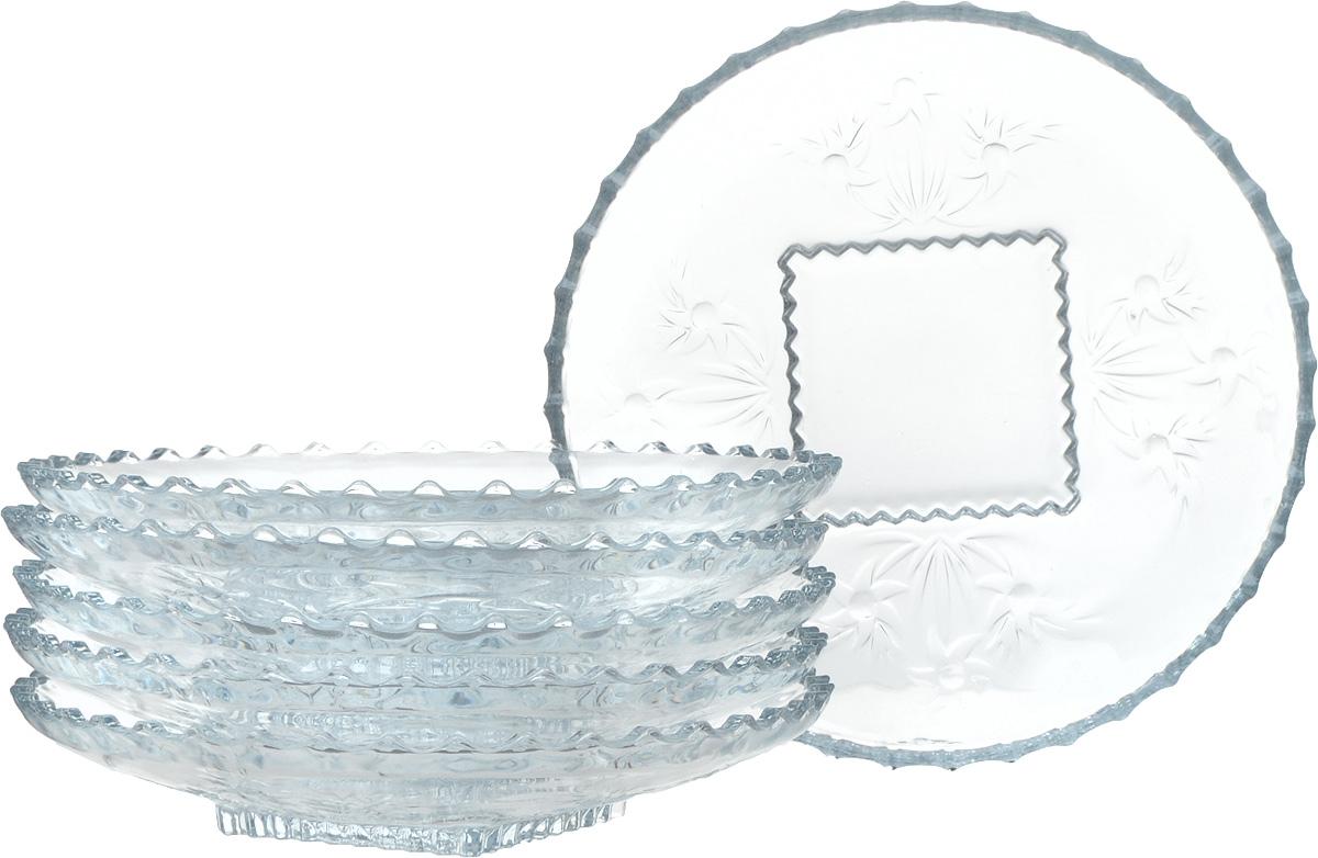 Набор тарелок Isfahan Simin, диаметр 18 см, 6 шт507Набор из 6-ти тарелок высококачественного стекла, имеет изысканный внешний вид. Такая тарелка прекрасно подходит как для торжественных случаев, так и для повседневного использования.Идеальна для подачи десертов, пирожных, тортов и многого другого. Она прекрасно оформит стол и станет отличным дополнением к вашей коллекции кухонной посуды.
