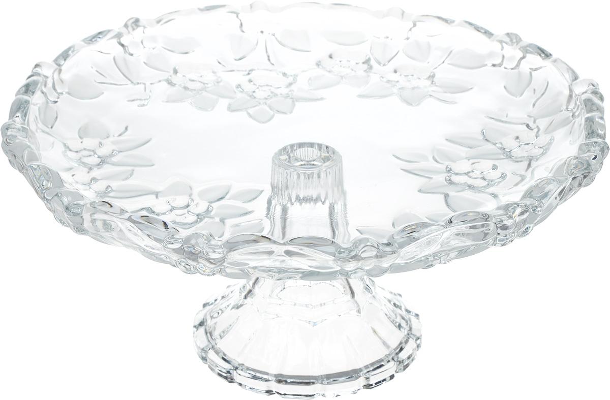 """Блюдо на ножке Isfahan """"Karen"""", выполненное из высококачественного стекла, оригинально  украсит праздничный стол и поможет красиво расположить торт или пирог. Блюдо с рифлеными  краями установлено на изящную ножку.  Такое изделие из иранского боросиликатного  стекла - новый тренд на рынке посуды. Оно легче хрусталя, но при этом выглядит достаточно  """"хрустально"""": те же грани, узоры, преломление света, блики, прозрачность, плавность краев и  устойчивость дна.   Посуду из иранского стекла можно мыть в посудомоечной машине."""