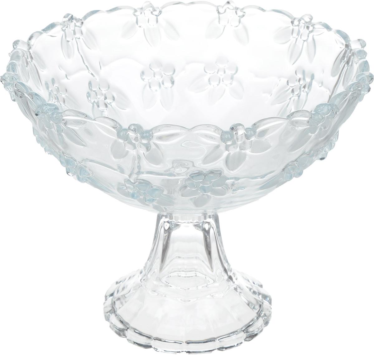Салатник Isfahan Karen, на ножке, диаметр 22 см810712Салатник изготовлен из стекла, прекрасно подойдет для подачи различных блюд: закусок, салатов или фруктов.Такой салатник украсит ваш праздничный или обеденный стол, а оригинальный дизайн придется по вкусу и ценителям классики, и тем, кто предпочитает утонченность и изысканность.