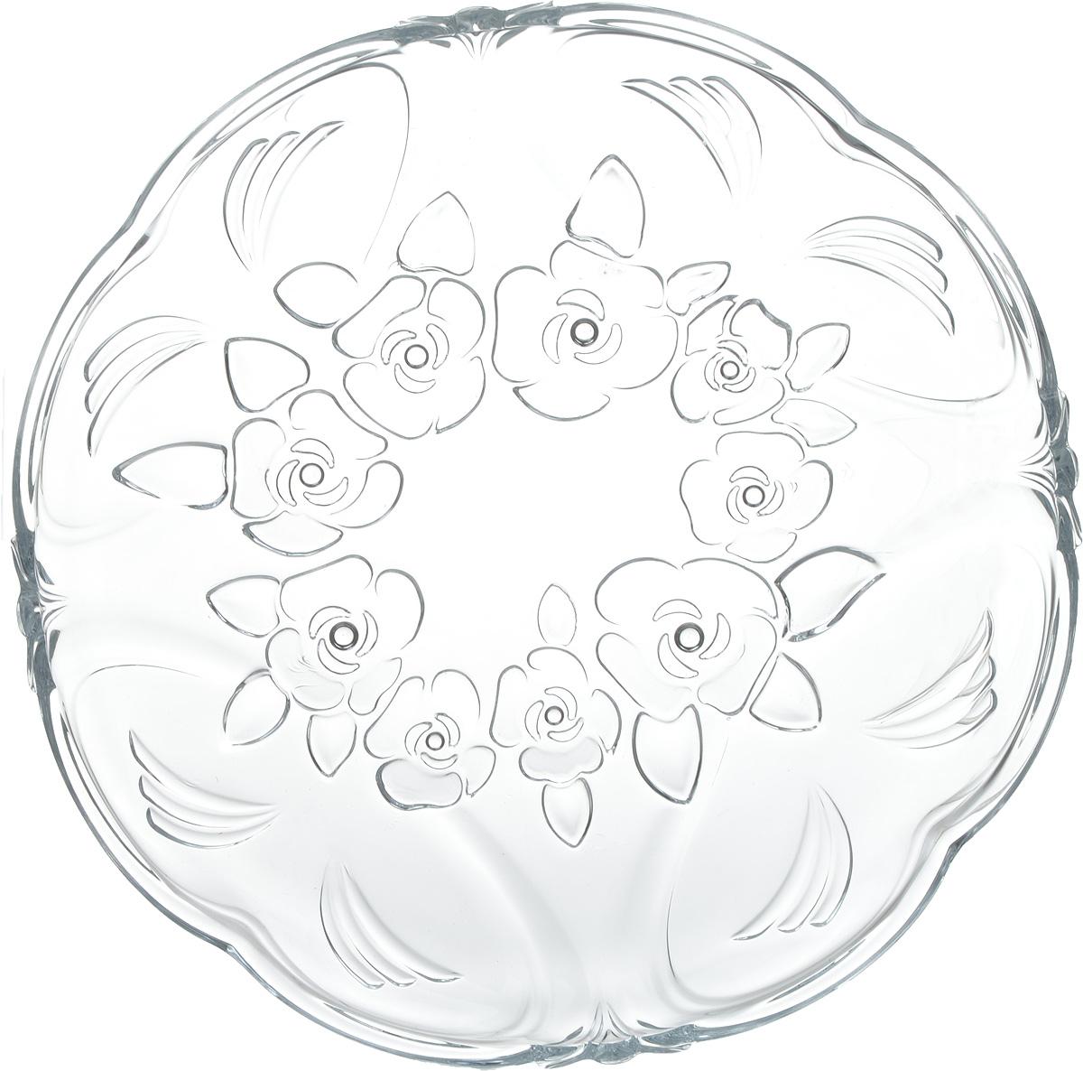 """Блюдо Isfahan """"Kokab"""", выполненное из высококачественного стекла, оригинально  украсит праздничный стол и поможет красиво расположить торт или пирог.  Такое изделие из  иранского боросиликатного стекла - новый тренд на рынке посуды. Оно легче хрусталя, но при  этом выглядит достаточно """"хрустально"""": те же грани, узоры, преломление света, блики,  прозрачность, плавность краев и устойчивость дна."""