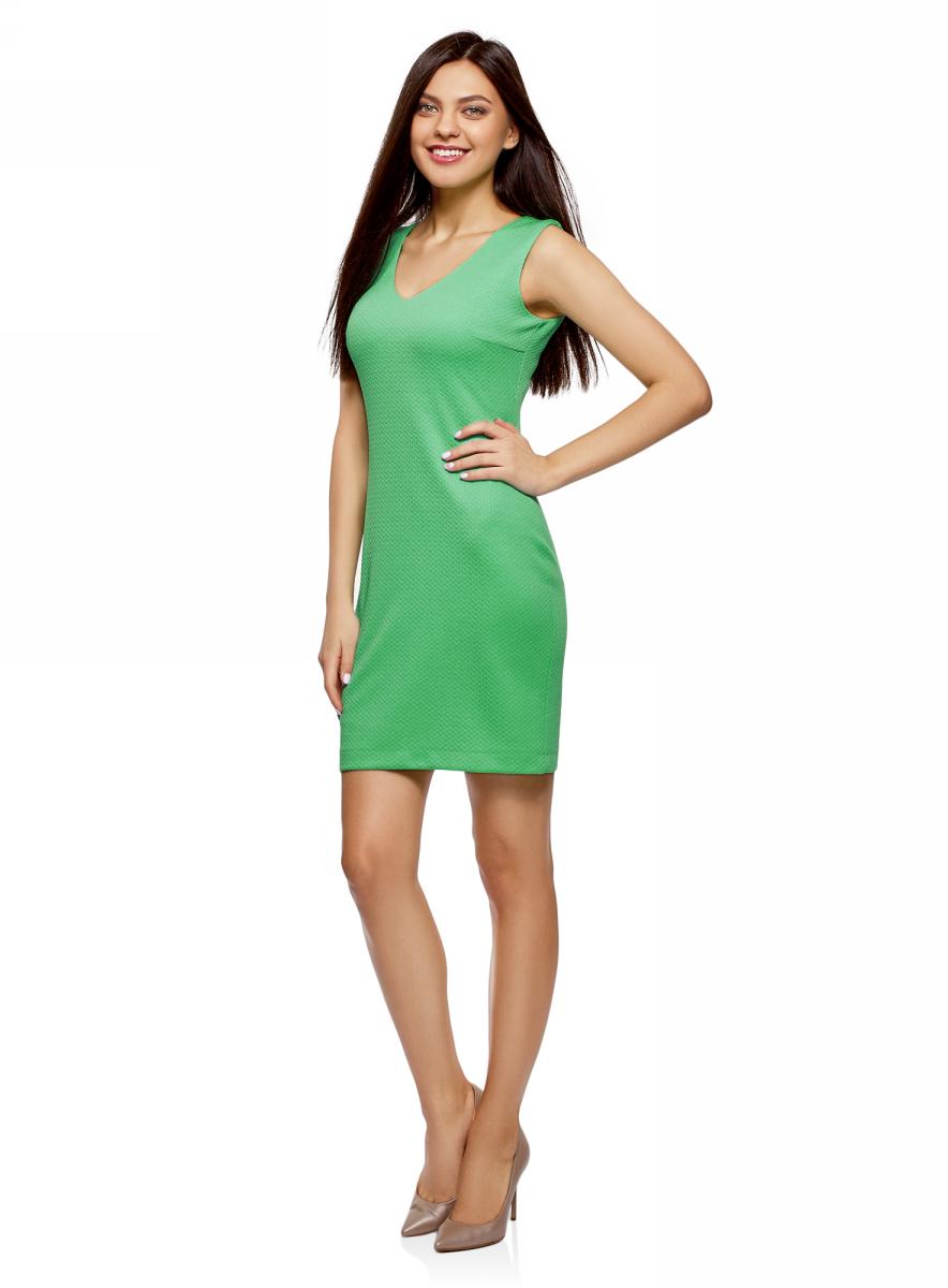 Платье oodji Collection, цвет: светло-зеленый. 24015003B/45211/6500N. Размер L (48) пуловеры oodji пуловер