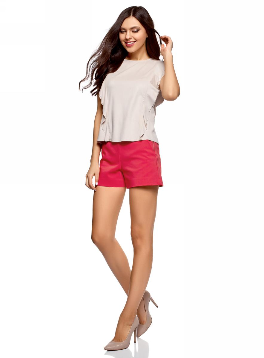 Шорты женские oodji Ultra, цвет: розовый. 11800030-1B/35589/4D01N. Размер 44 (50-170)