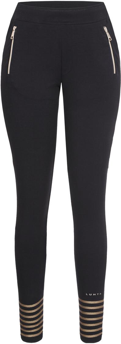 Брюки женские Luhta, цвет: черный. 939725309LV_990. Размер XL (50) толстовка мужская luhta okka цвет черный серый 636547368lv размер xl 54