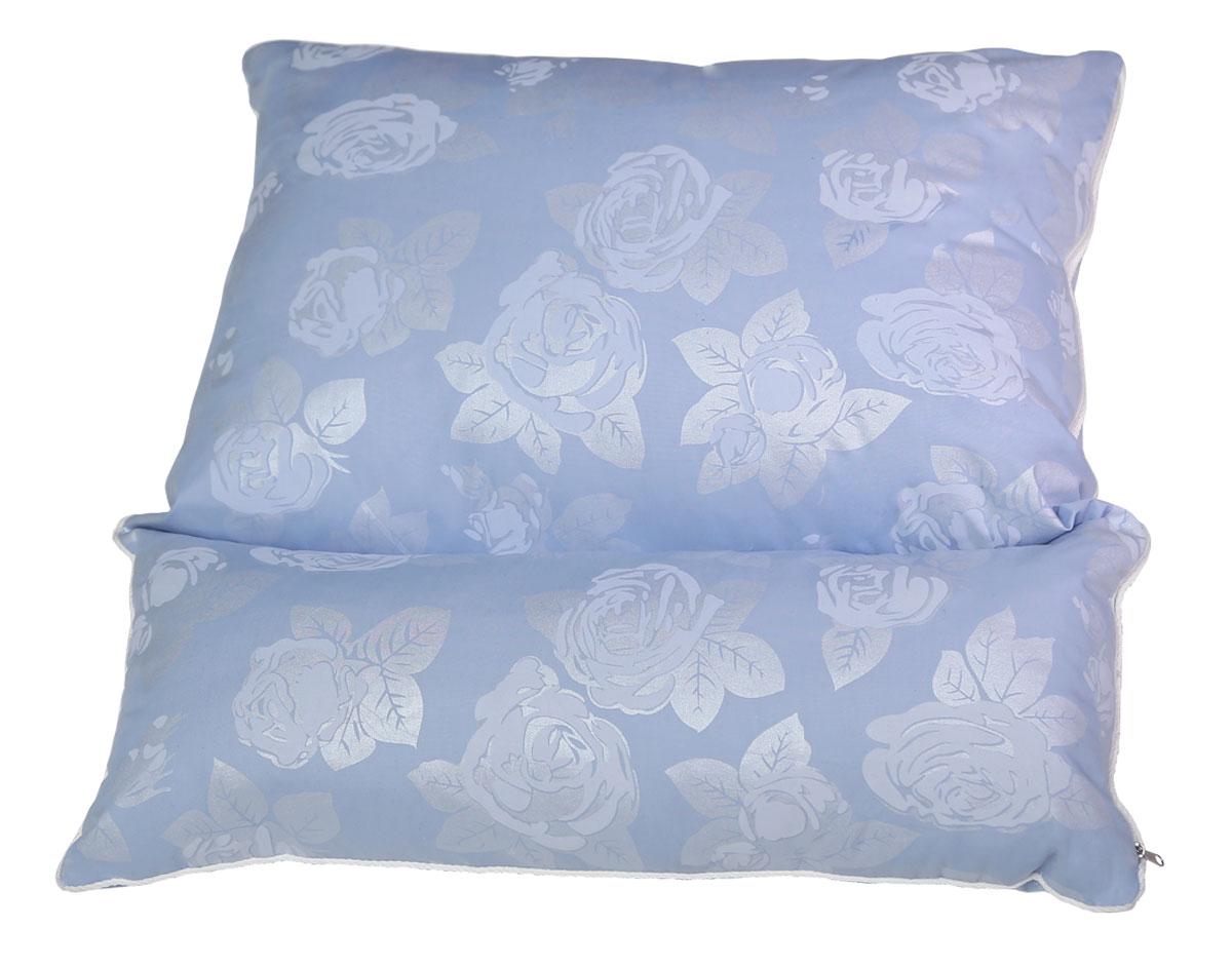 Подушка ортопедическая Bio-Textiles Трансформер, наполнитель: лебяжий пух, цвет: голубой, 50 х 70 см. F179F179