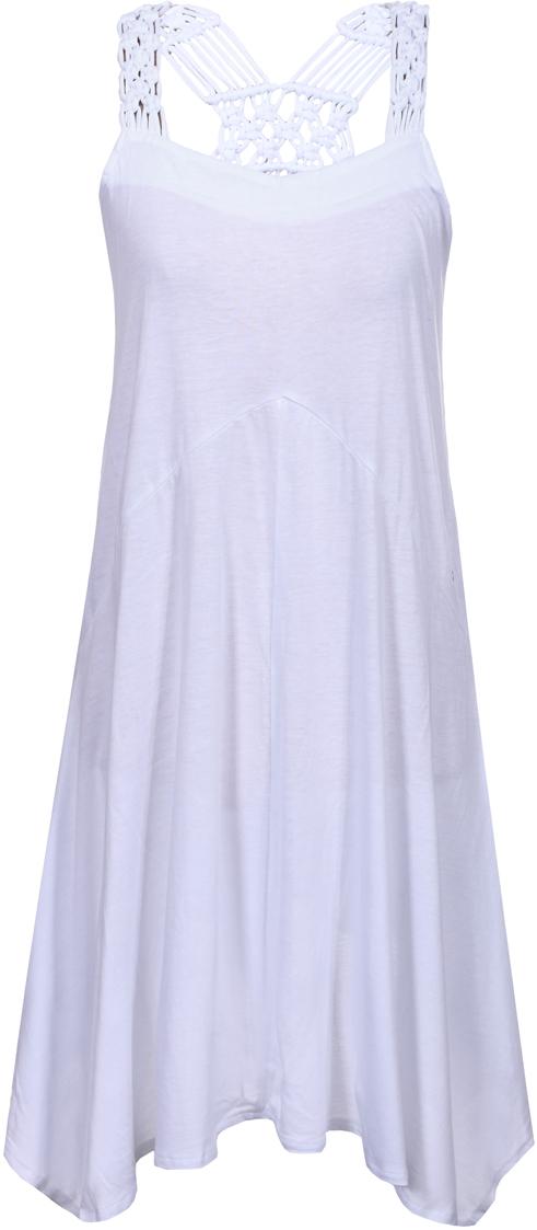 Платье Luhta, цвет: белый. 939231381LV_980. Размер L (48) платье luhta luhta lu692ewauhr7