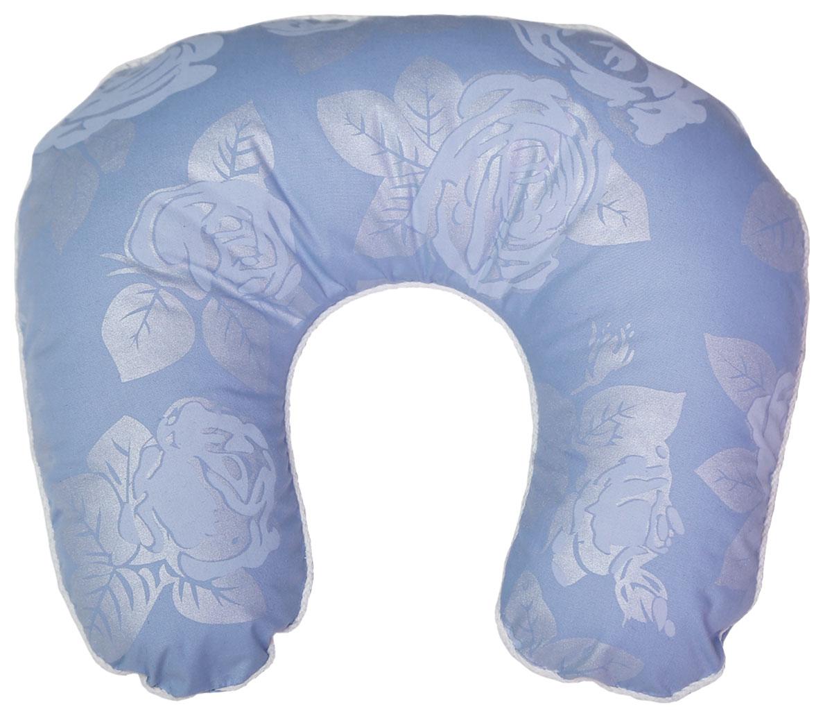 Подушка ортопедическая Bio-Textiles Подкова, наполнитель: лебяжий пух, цвет: голубой, 40 х 40 см. F510F510Подушка Подкова незаменима при длительных поездках или перелетах. Она снимаетнапряжение, учитывая анатомо-физиологические особенности шейного отдела позвоночника. Также обеспечивает во время сна мягкую опору головы, массажное воздействие на мышцы шейногоотдела позвонка и их релаксацию.