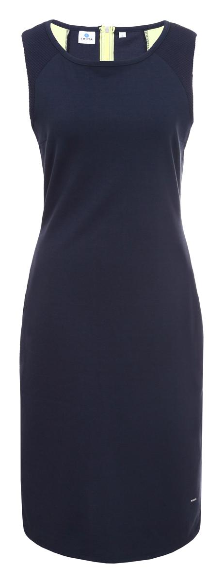 Платье Luhta, цвет: темно-синий. 939283425LV_387. Размер L (48) платье luhta luhta lu692ewauhr7