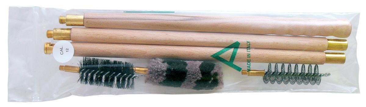 Набор для чистки гладкоствольного оружия Nimar, калибр 12. 100.1012100.1012Набор для чистки Nimar для гладкоствольного оружия 12 калибра.В набор входит:1. Деревянный шомпол2. 3 щетки (спиральная, щетинная и пуховая)Все компоненты набора упакованы в полиэтиленовый пакет.Набор изготовлен итальянским брендом Nimar. Длина шомпола в скрученном виде 80см
