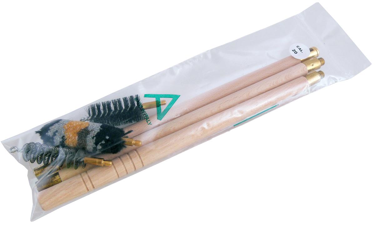 Набор для чистки гладкоствольного оружия Nimar, калибр 20, 4 предмета