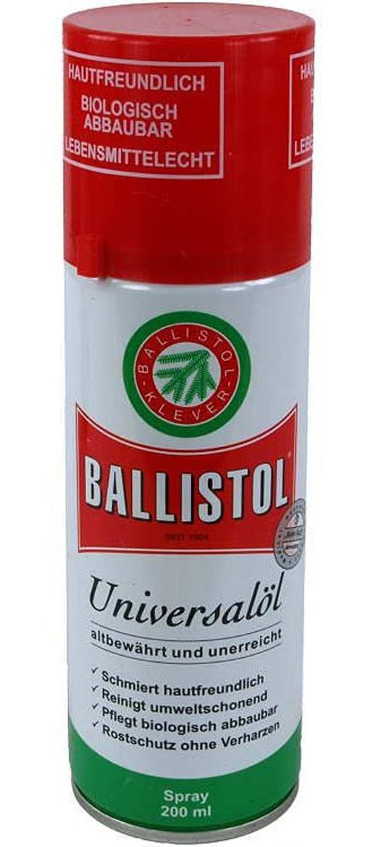 Ballistol, универсальное масло, проверенное временем и не имеющеесебе равных.Средство для ухода за металлом, кожей, древесиной, резиной,пластиком, мехом, кожей человека и многим другим.Применяется в промышленности, сельском хозяйстве, вбыту, в саду, в гараже. Незаменимо на охоте, на рыбалке, настрельбище, в походе.Металл:BALLISTOL широко применяется при производстве станков иоборудования, в высокоточных отраслях промышленности.BALLISTOL создаёт защитную щелочную плёнку на поверхностиметалла, нейтрализуя последствия взаимодействия материала сруками. Также масло удаляет другие кислотные остатки и защищаетметалл от коррозии. Благодаря своему слабому поверхностномунатяжению и сильной проникающей способности BALLISTOLзаполняет мельчайшие трещины и неровности в поверхности. Маслоидеально подходит для ухода за высокоточными и измерительнымиприборами, мелкими и хрупкими деталями.Кожа:BALLISTOL эффективно защищает изделия из кожи от высыханияи повреждений гнилью, создаёт влагонепроницаемый защитныйслой. Ballistol нейтрализует остатки разрушающей дубильнойкислоты в коже. Сухая кожа вновь становится мягкой и эластичной,с шелковисто-матовым глянцем. Светлая кода может потемнеть.Типичный собственный запах масла BALLISTOL улетучивается закороткое время. Кожа не оставляет жирных следов.Древесина:BALLISTOL защищает и сохраняет любые натуральные деревянныеизделия. Улучшает внешний вид древесины и защищает отгубительного воздействия влаги и насекомых. Идеально для уходаза античной мебелью.Искусственные материалы:BALLISTOL защищает, сохраняет искусственные материалы,устойчивые к воздействию масла, сохраняет их эластичность ипредотвращает высушивание и охрупчивание. Предотвращаетпримерзание дверных уплотнителей в автомобилях. Пластмассовыеповерхности вновь блестят как новые и не оставляют жирныхследов.Шкура и человеческая кожа:BALLISTOL не вредит человеческой коже и шкуре животных иабсолютно безопасно при случайном проглатывании. Маслорекомендуется для очистки шкуры и шерсти домашних ж