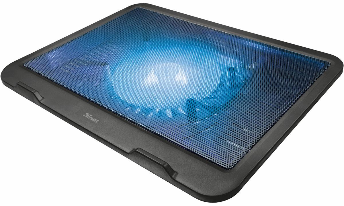 Trust Ziva, Black охлаждающая подставка для ноутбука