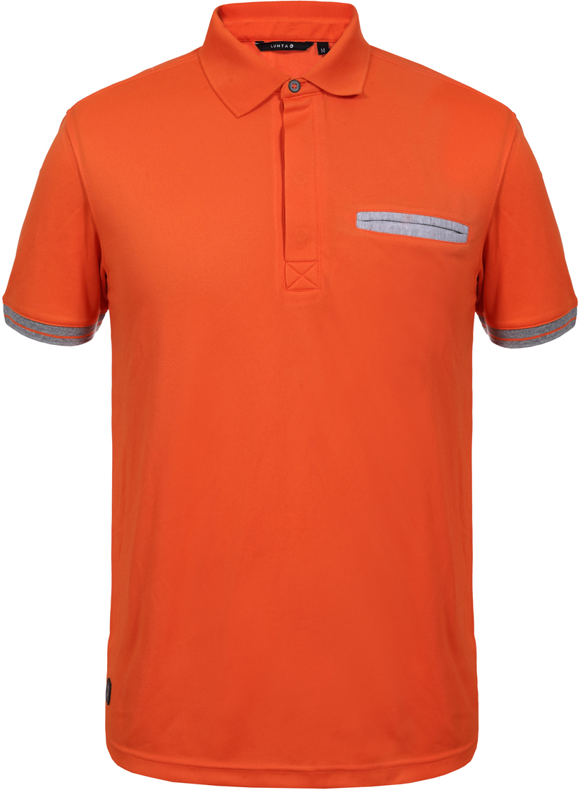 Поло мужское Luhta, цвет: оранжевый. 939516590LV_465. Размер XL (50) футболка luhta luhta lu692ewauhs6
