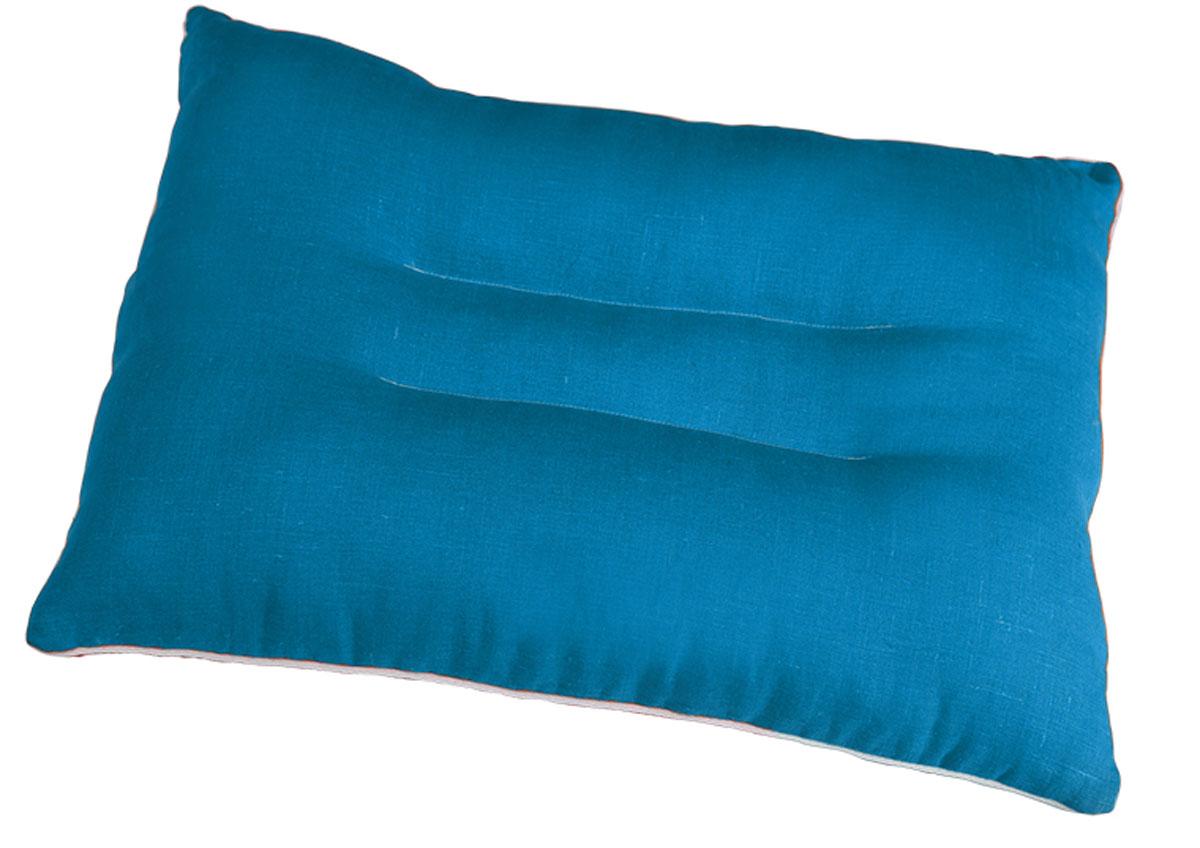 Подушка ортопедическая Bio-Textiles Магия солнца Blue, наполнитель: лебяжий пух, цвет: бирюзовый, 50 х 70 см. АМ490АМ490Правильная подушка - залог комфортного сна. Анатомическая подушка имеет плотный валик пообеим сторонам, что позволяет ей фиксировать шейный отдел позвоночника в правильномположении, она позволяет мышцам шеи расслабиться, а также помочь избавиться от храпа ибессонницы. Разновидности исполнения подушек данной коллекции подарят вам право выбораткани и наполнителя.