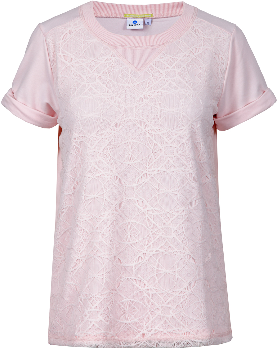 Футболка женская Luhta, цвет: светло-розовый. 939337309LV_602. Размер XL (50) футболка luhta luhta lu692ewauhs6