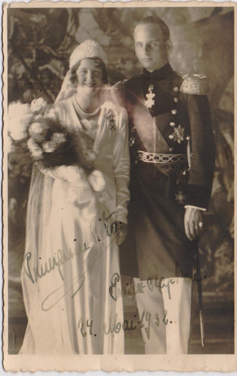 Принцесса Маргарет и принц Рафаэль Турн-и-Таксис. ОткрыткаПО0902017-0045