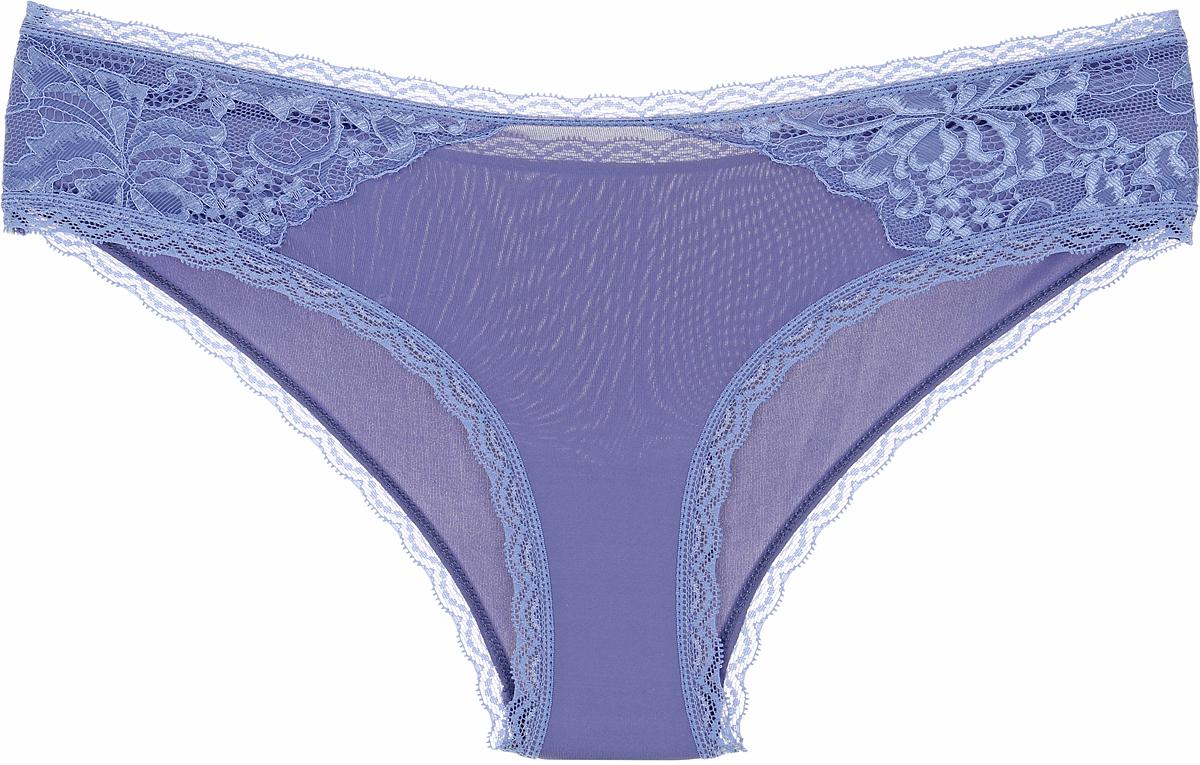 Трусы женские Sela, цвет: голубой. PUb-153/088-8142. Размер XS (42)PUb-153/088-8142Женские трусы Sela выполнены из высококачественного материала. Модель оформлена ажурными вставками.