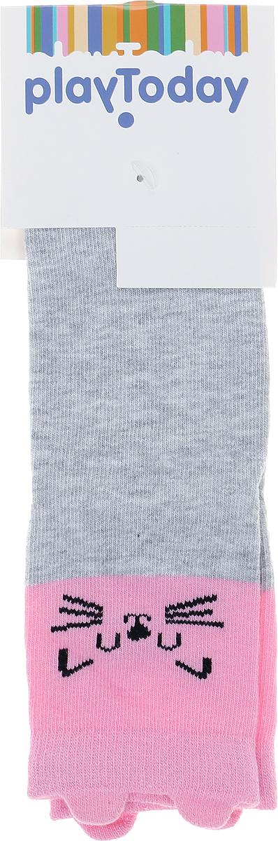 Носки для девочки PlayToday Home, цвет: светло-серый. 186012. Размер 16186012Мягкие носки изготовлены из натуральных материалов. Хорошо пропускают воздух, позволяя коже дышать. Дополнены оригинальным рисунком. На подошву нанесены специальные силиконовые наклейки для дополнительной безопасности ребенка на скользких поверхностях.