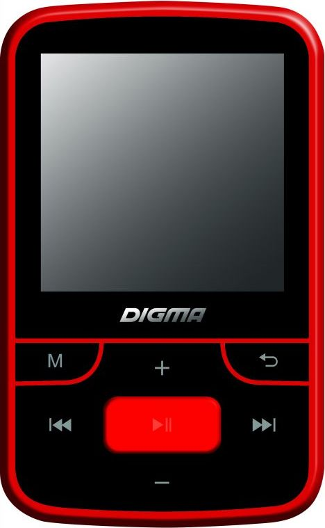 Zakazat.ru: Digma T3 8Gb, Black Red MP3-плеер