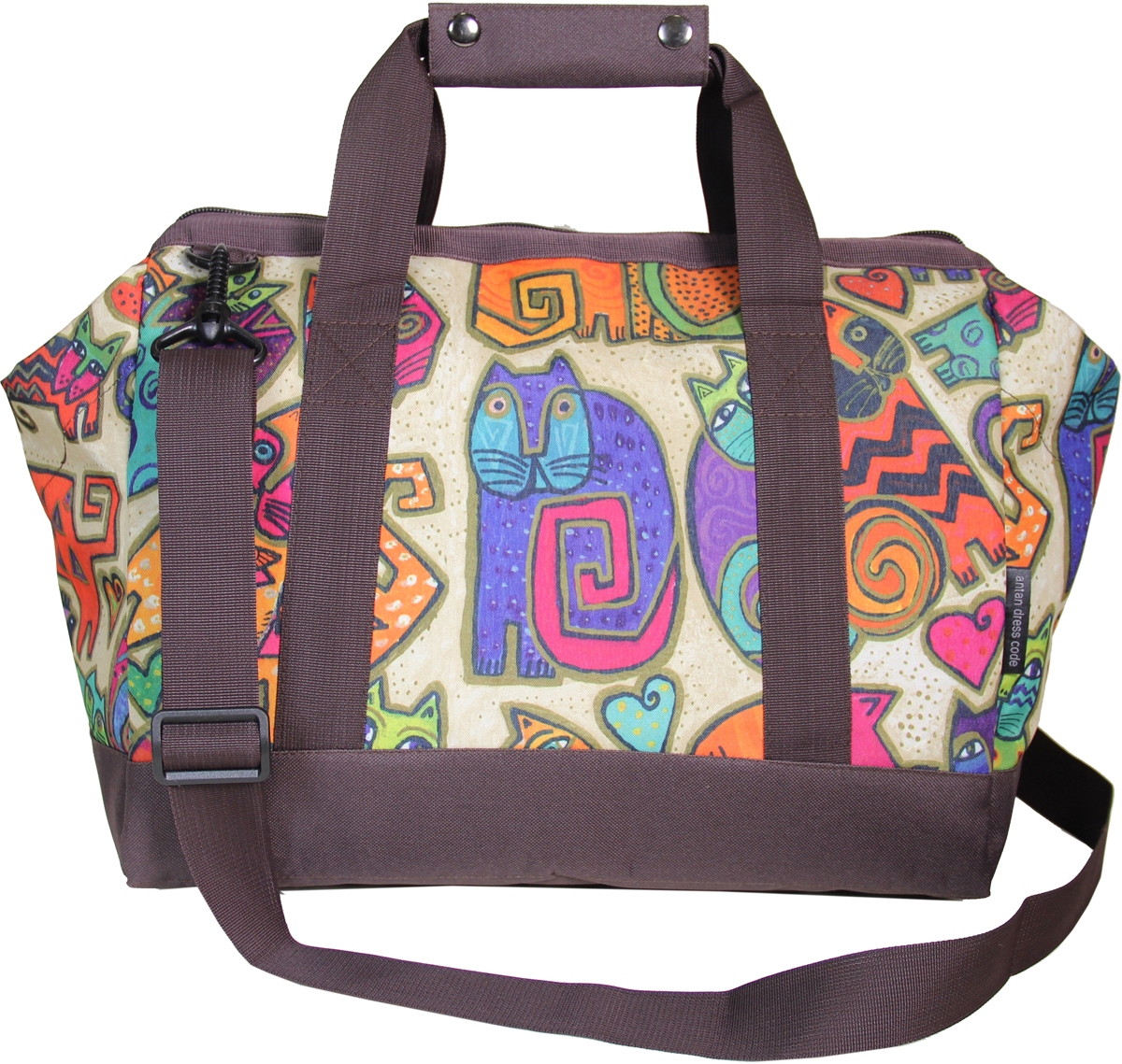 Сумка дорожная женская Antan Коты, цвет: разноцветный. 2-252 А сумки nobo сумка женская