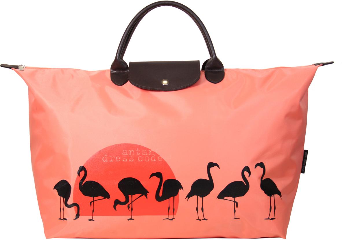 Сумка дорожная женская Antan Розовый фламинго, цвет: коралловый. 175 сумка antan венеция цвет черный 3 37