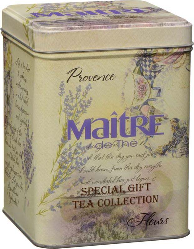 Maitre чай черный листовой provance fleurs, 100 г maitre цейлон черный байховый чай в пакетиках 100 шт