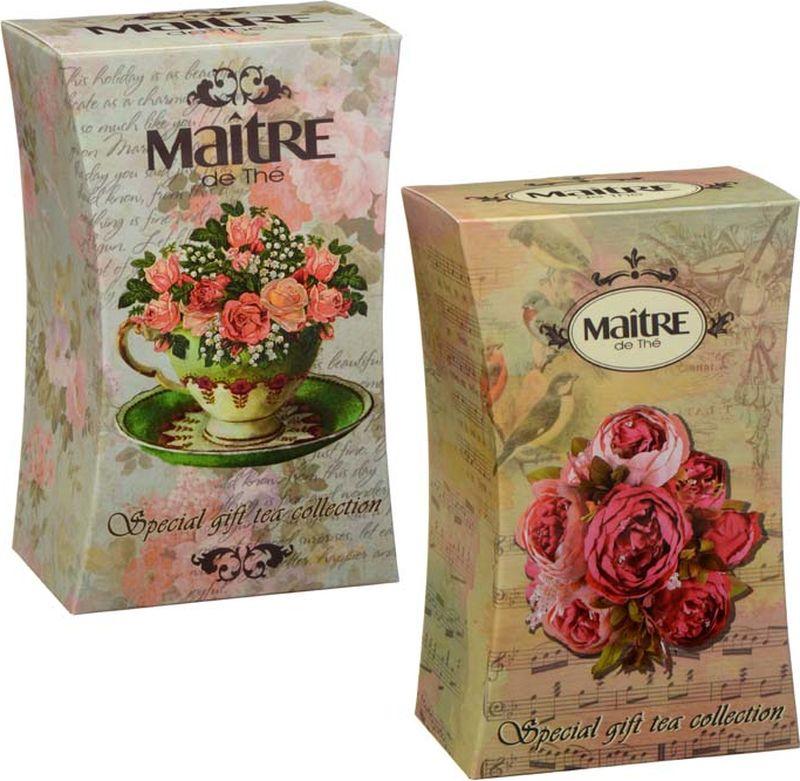 Maitre чай черный листовой цветочный вальс, 90 г greenfield чай greenfield классик брекфаст листовой черный 100г