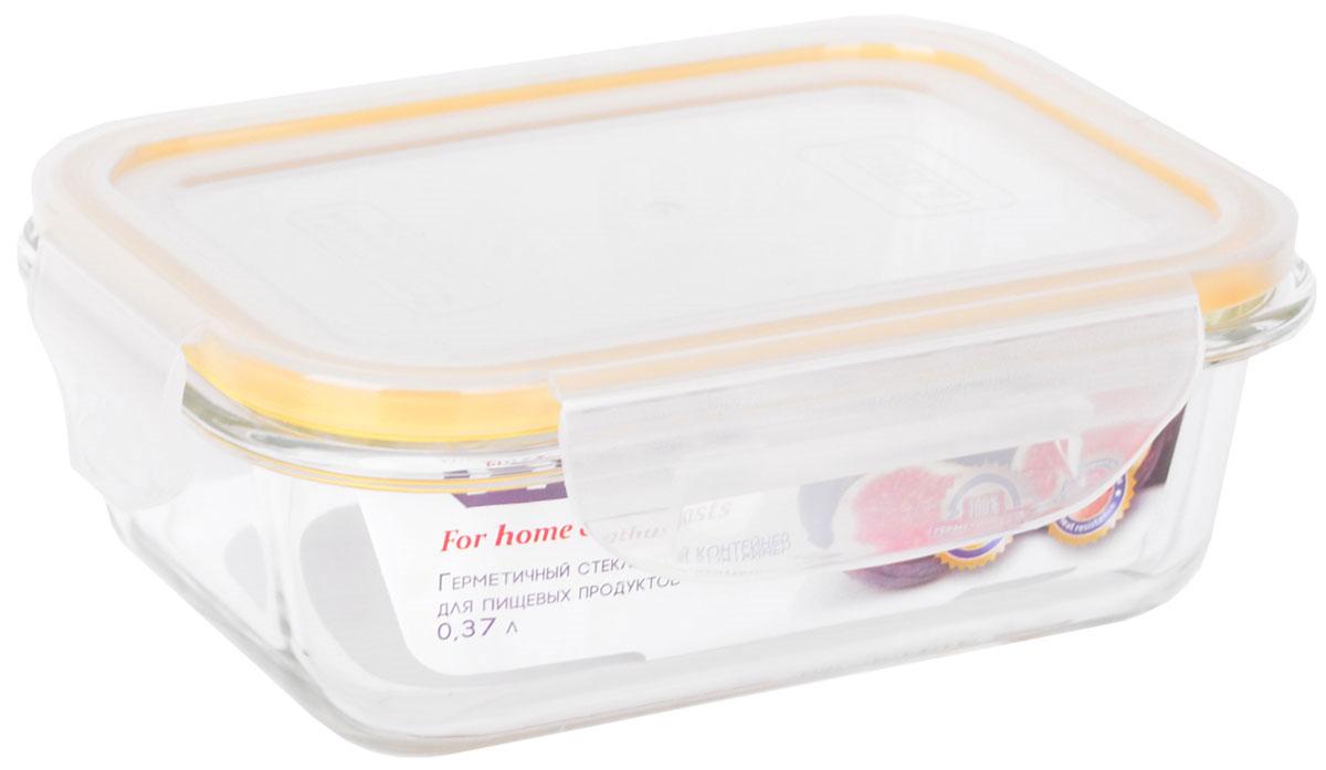 Контейнер пищевой HITT, цвет: прозрачный, желтый, 370 млH241032Контейнер пищевой HITT можно использовать в духовке (без крышки), СВЧ-печи, посудомоечной машине, термостойкий (400°C). Стекло устойчиво к температурным перепадам до 120°C. Повышенная ударопрочность, стойкость к деформации. Полная непроницаемость воды и запахов. Стойкость к окраске.А благодаря плотной крышке еда дольше сохраняет свою свежесть.