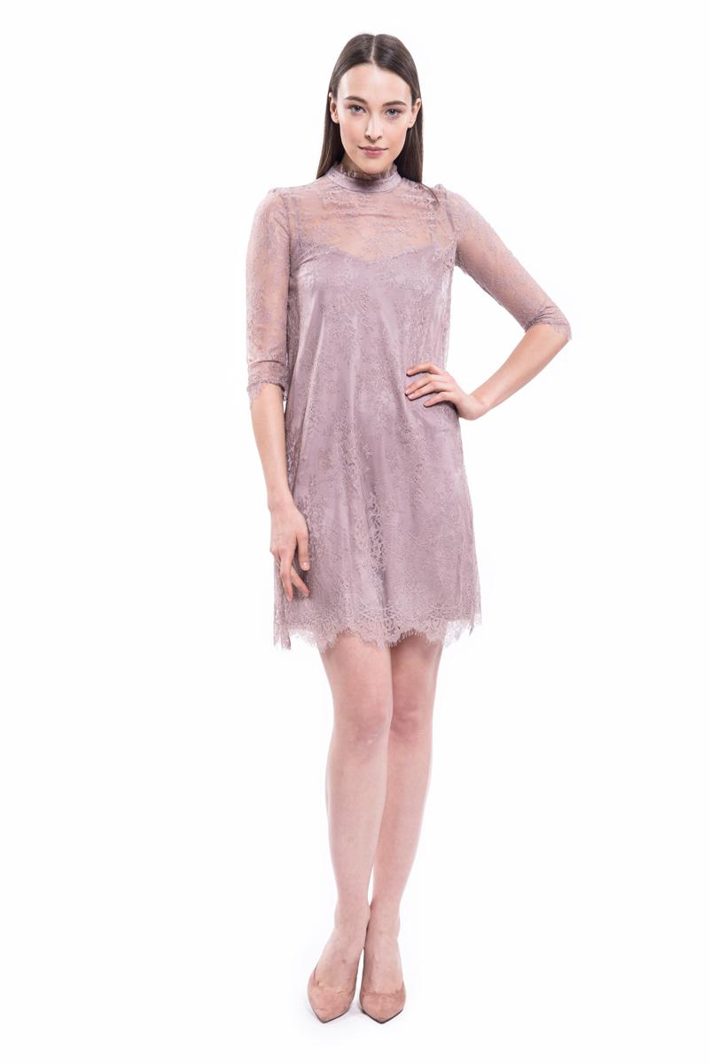 Платье Lusio, цвет: пудровый. AW18-020020. Размер XS (40/42) платье lusio lusio lu018ewubt88