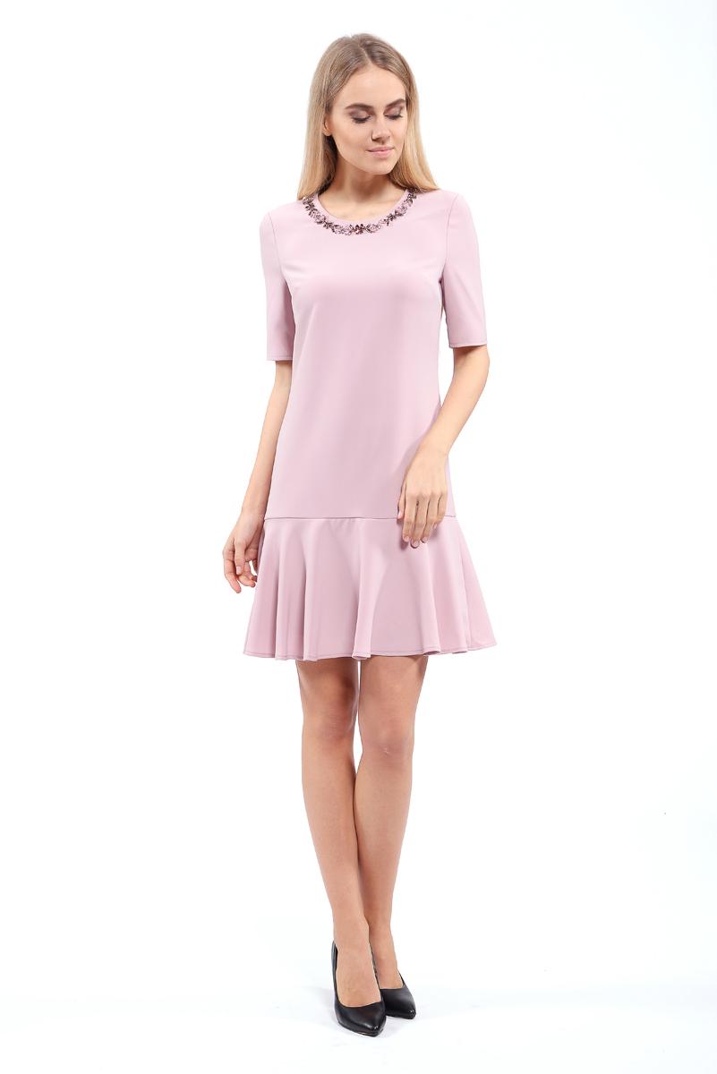 Платье Lusio, цвет: пудровый. AW18-020087. Размер XS (40/42)