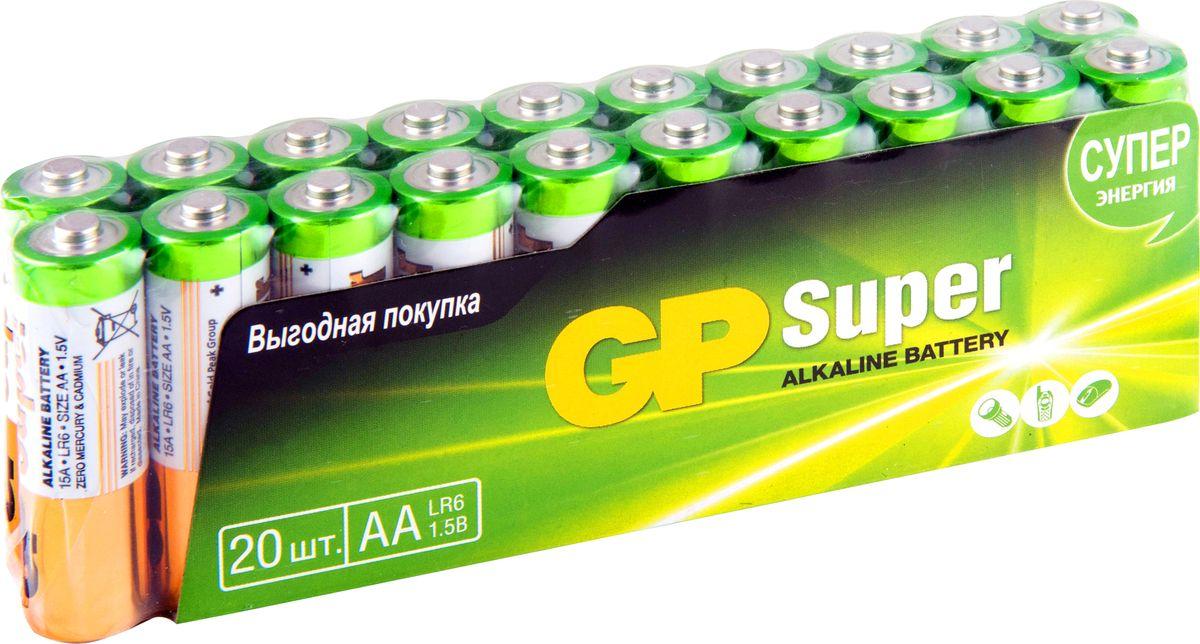 Набор алкалиновых батареек GP Batteries, тип АА, 20 шт ag8 lr55 1 55v alkaline cell button batteries 10 piece pack