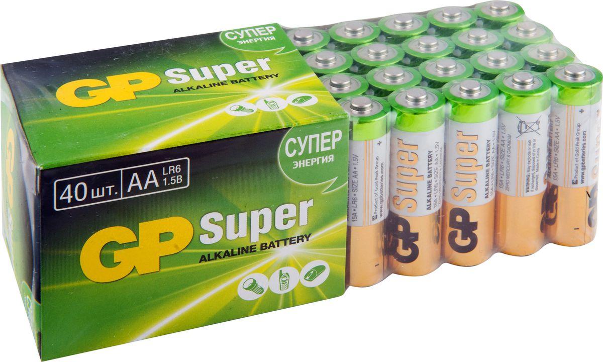 Набор алкалиновых батареек GP Batteries, тип АА, 40 шт ag8 lr55 1 55v alkaline cell button batteries 10 piece pack